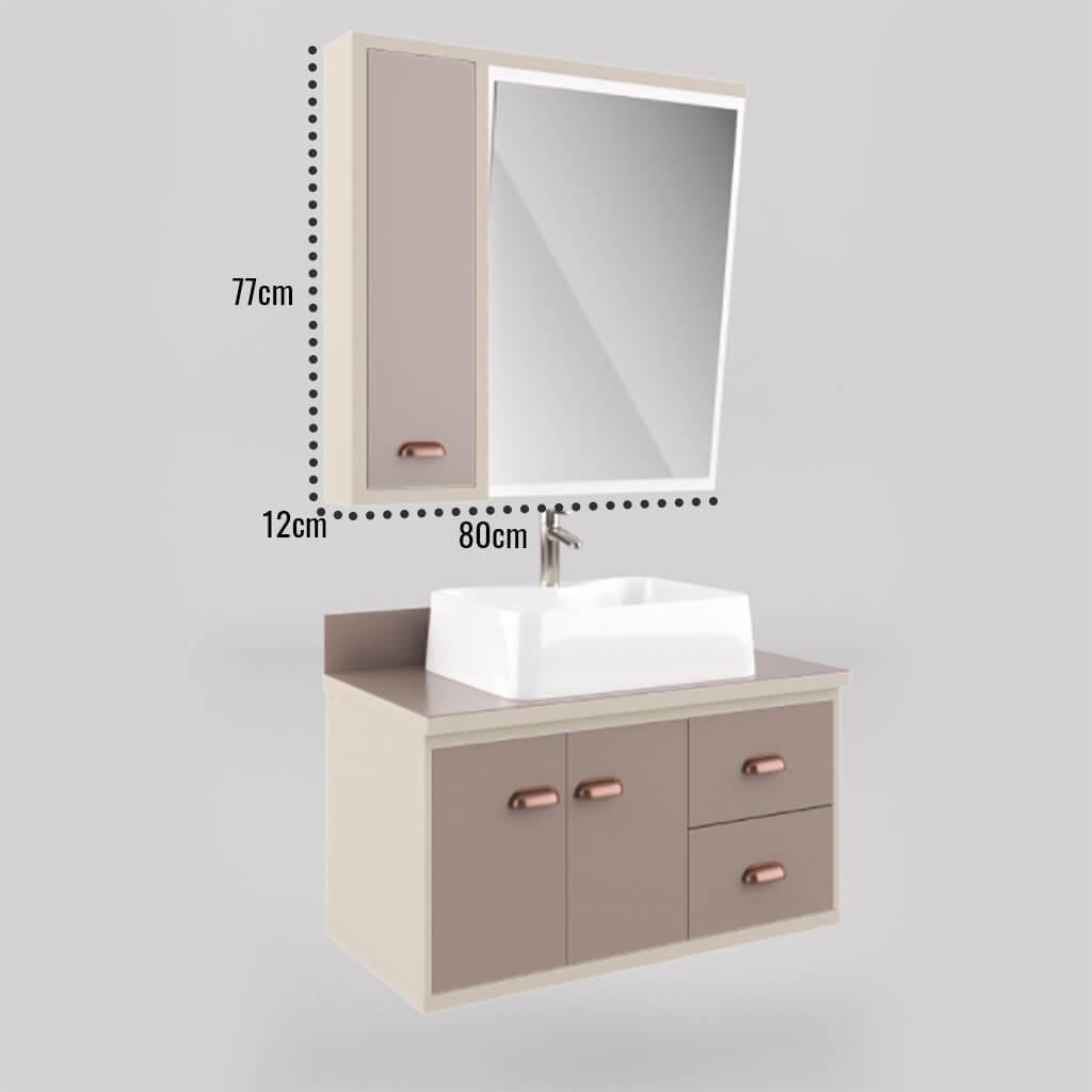 Espelheira Para Banheiro 65cm Nude Lilies Móveis - balcaorural