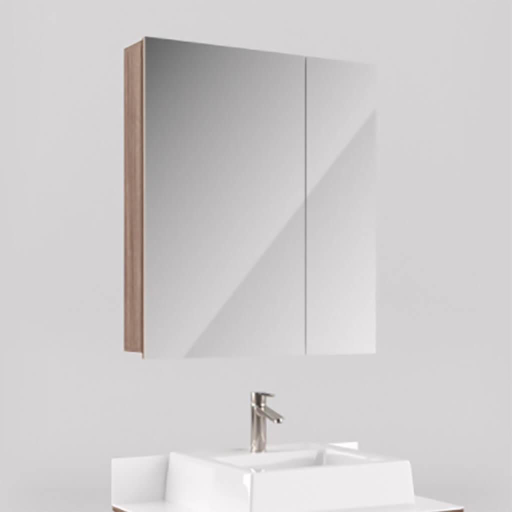 Espelheira para Banheiro 65cm Portas Barrique Lilies